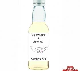 Svadobná fľaštička s alkoholom 40 / 50 ml SF196