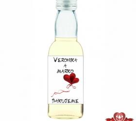 Svadobná fľaštička s alkoholom 40 ml SF225