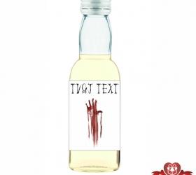 Halloweenska mini fľaštička, motív H001