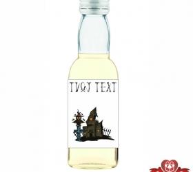 Halloweenska mini fľaštička, motív H003
