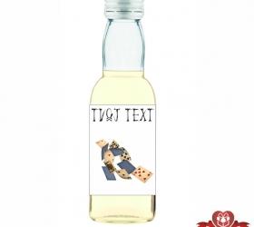 Halloweenska mini fľaštička, motív H005