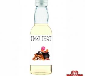 Halloweenska mini fľaštička, motív H009