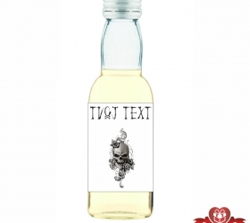 Halloweenska mini fľaštička, motív H010
