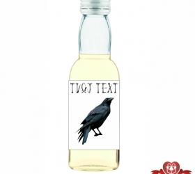 Halloweenska mini fľaštička, motív H014