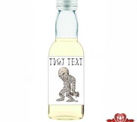 Halloweenska mini fľaštička, motív H019