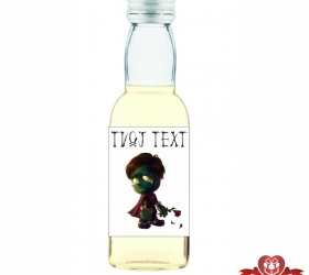 Halloweenska mini fľaštička, motív H021