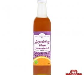 Pomarančový sirup s levanduľou