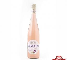 Levanduľové víno Ružové