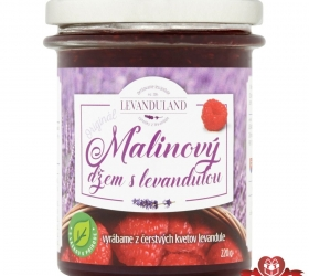 Malinový džem s levanduľou