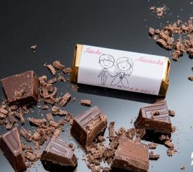 Svadobná čokoládka pre hostí - stredná SC03