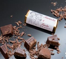 Svadobná čokoládka pre hostí - stredná SC04