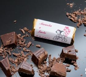 Svadobná čokoládka pre hostí - stredná SC14