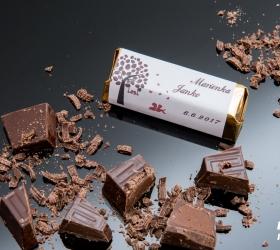 Svadobná čokoládka pre hostí - stredná SC21