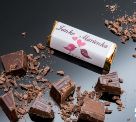 Svadobná čokoládka Rumba pre hostí, motív S001