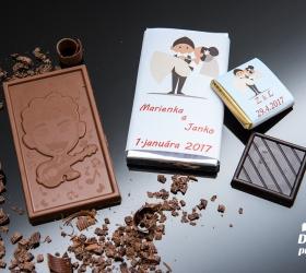 Svadobná čokoládka malá SCM02