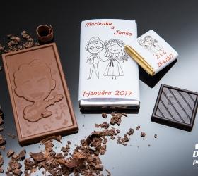 Svadobná čokoládka malá SCM06