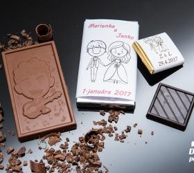 Svadobná čokoládka malá SCM08