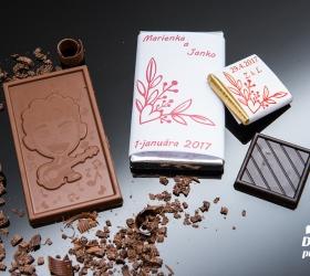 Svadobná čokoládka malá SCM10