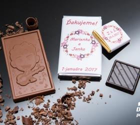 Svadobná čokoládka malá SCM13