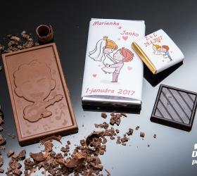 Svadobná čokoládka malá SCM16