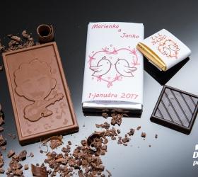 Svadobná čokoládka malá SCM21
