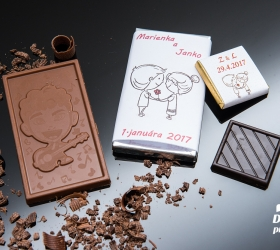 Svadobná čokoládka malá SCM24