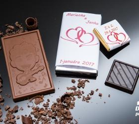 Svadobná čokoládka malá SCM26