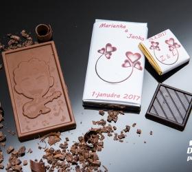 Svadobná čokoládka malá SCM28