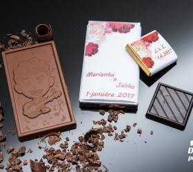 Svadobná čokoládka malá SCM29
