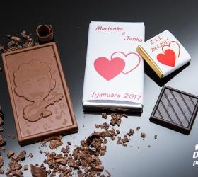 Svadobná čokoládka malá SCM32