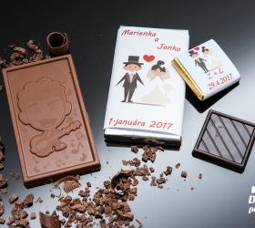 Svadobná mini čokoládka SMC03