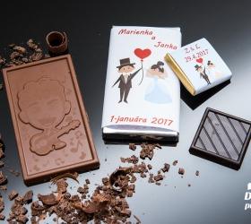 Svadobná mini čokoládka SMC06