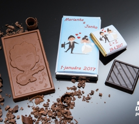 Svadobná mini čokoládka SMC04