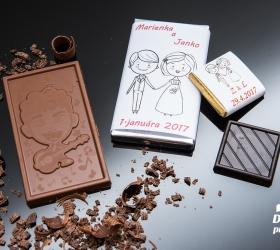 Svadobná mini čokoládka SMC07