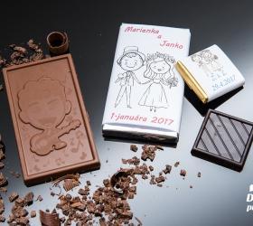 Svadobná mini čokoládka SMC09