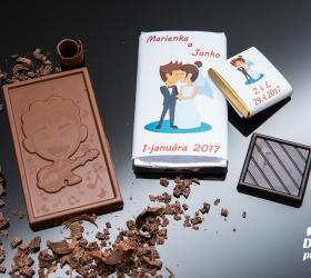 Svadobná mini čokoládka SMC12