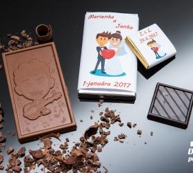 Svadobná mini čokoládka, motív S276
