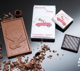 Svadobná mini čokoládka SMC15