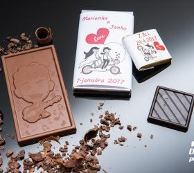 Svadobná mini čokoládka SMC19