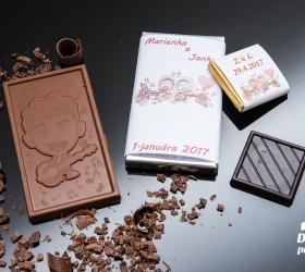 Svadobná mini čokoládka SMC20