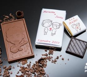 Svadobná mini čokoládka, motív S289