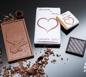 Svadobná mini čokoládka, motív S315