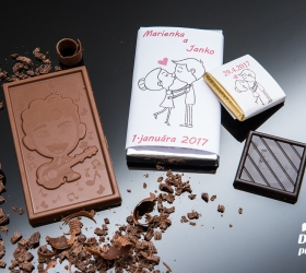 Svadobná mini čokoládka SMC56