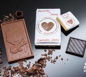 Svadobná mini čokoládka, motív S339