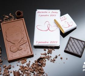 Svadobná mini čokoládka, motív S342