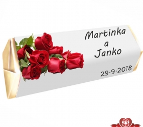 Svadobná čokoládka Rumba pre hostí, motív S070