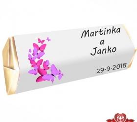 Svadobná čokoládka Rumba pre hostí, motív S085