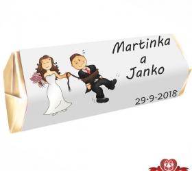 Svadobná čokoládka Rumba pre hostí, motív S090