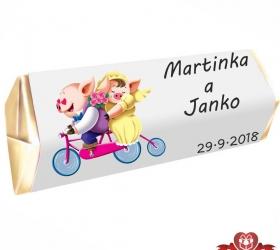 Svadobná čokoládka Rumba pre hostí, motív S092
