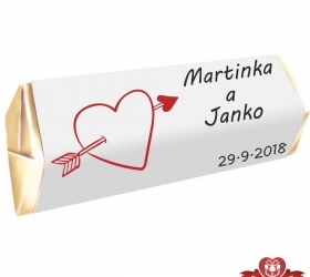 Svadobná čokoládka pre hostí - stredná SC100
